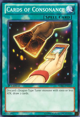 Cards Of Consonance cards of consonance sdbe en025 common 1st yu gi oh singles 187 structure deck saga of