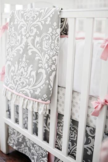 Stella Gray Crib Bedding Baby Bedding Stella Gray Collection Baby Damask Bedding And