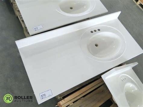 vanity tops 43 x 22 right offset sink vanity top home