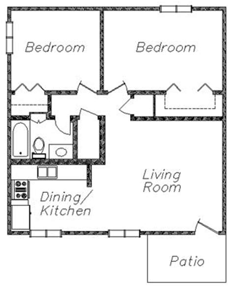 2 bedroom 1 bath floor plans 2 bedroom 1 bath house plans 2 bedroom 1 bath floor plans