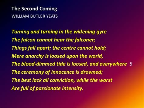 theme quotes in things fall apart w b yeats quot the second coming quot