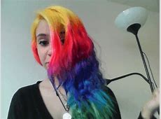 Shamelessly showing off my hair ^.^ I literally cannot ... Rainbow Hair Tumblr