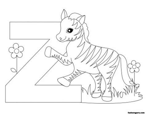 Printable Animal Alphabet worksheets Letter Z for Zebra ...