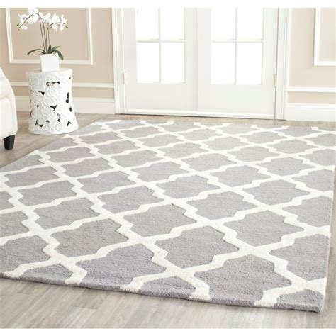 10 X 10 Ft Square Rug - safavieh cambridge silver ivory 10 ft x 10 ft square