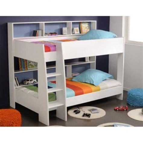 Parisot Bunk Bed Parisot Leo White Bunk Bed With Made Mattresses Duvets And Pillows