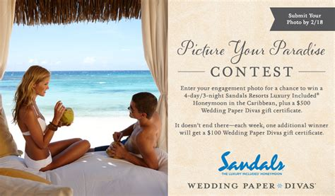 Wedding Paper Divas Gift Certificate by Picture Your Paradise Photo Contest