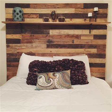 pallet headboard with shelves diy pallet headboard with decorative shelf wooden pallet
