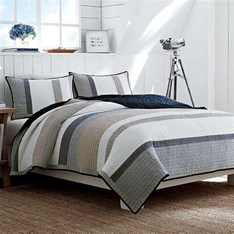 bedroom quilts nautica tideway quilt from beddingstyle com