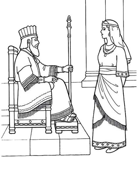 esther coloring pages esther bible coloring pages sketch coloring page