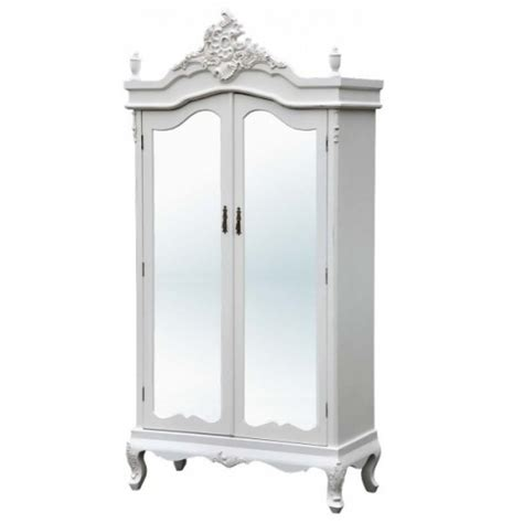 white armoire with mirrored door antique white armoire shabby chic full mirror doors