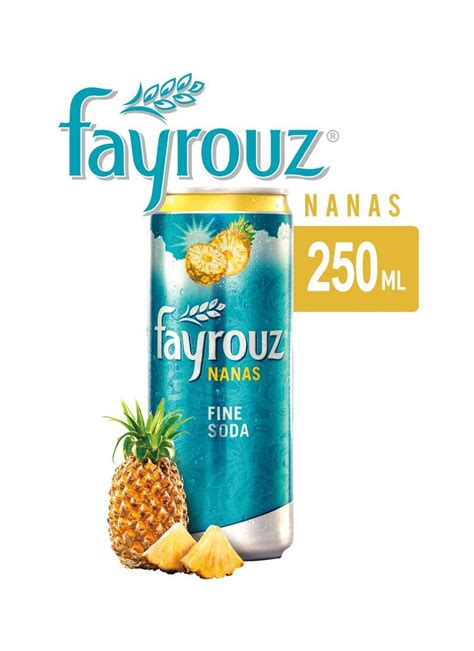 fayrouz soft drink pineapple klg ml klikindomaret
