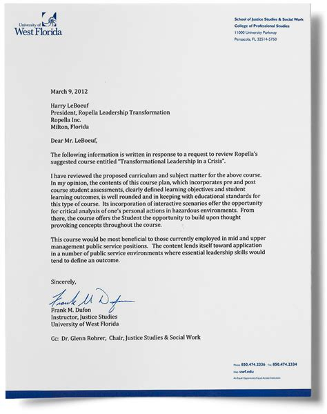Recommendation Letter For Leader Transformational Leadership In A Crisis Ropella Responder