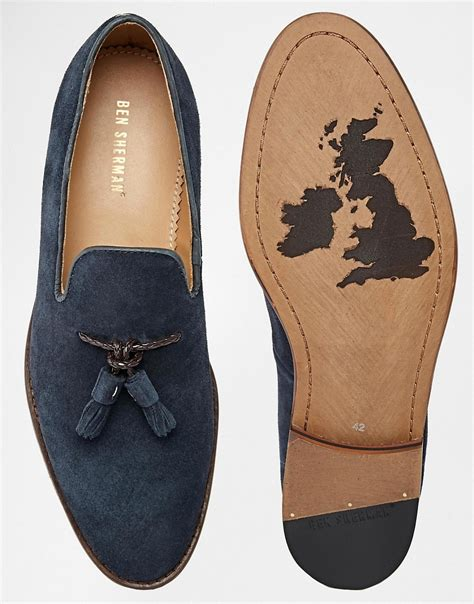 ben sherman loafers ben sherman ben sherman suede tassel loafers at asos