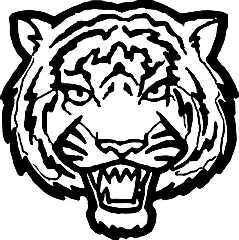 tiger face big coloring page wecoloringpage