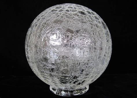 vintage glass globe l crackle glass ball shade 8 quot vintage art deco frankart era