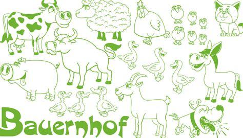 kinderzimmer deko bauernhof wandtattoo aufkleber set f 252 r kinderzimmer bauernhof