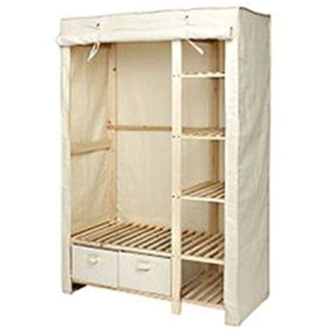 wardrobe canvas polycotton and wood set wood