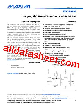 maxim integrated products email address ds3232m datasheet pdf maxim integrated products