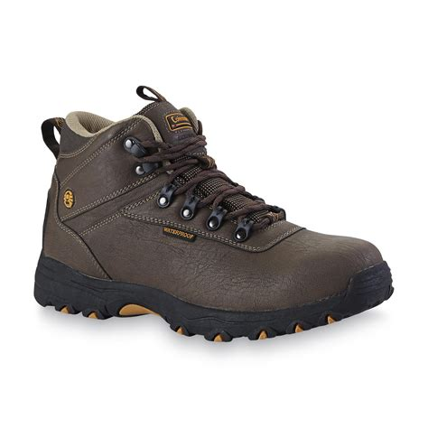 Airwalk Hiker Leather Syn Brown s kent 2 brown mid hiker boot hit the trail in boots from kmart