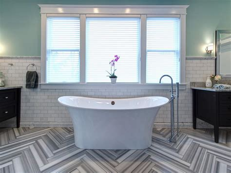 bathroom tile layout tips 15 simply chic bathroom tile design ideas hgtv