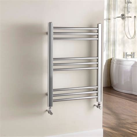 b q electric towel rails bathrooms kudox timeless towel warmer silver chrome h 700 w 500 mm