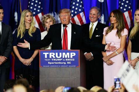 donald trump victory speech donald trump wins south carolina republican primary ny