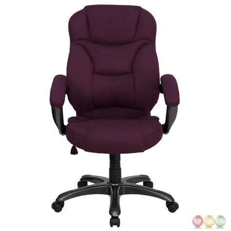 Microfiber Office Chair by High Back Grape Microfiber Upholstered Office Chair Go 725 Grpe Gg