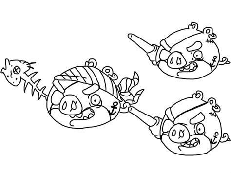 angry birds pirate coloring pages angry birds epic coloring page pirate pigs my free