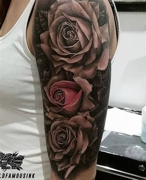 rose sleeve tattoos tattoo collections