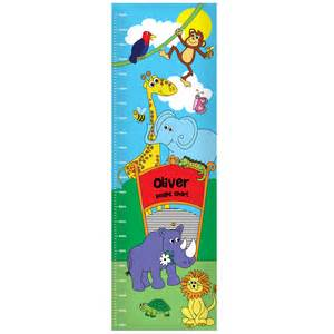 personalised zoo height chart for kids home amp garden