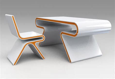 Chair Desk Design Ideas Futuristic Furniture Ultramodern Desk Chair Design Set