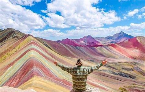 Sahara Desert Snow by The Rainbow Mountains Vinicunca Peru Latin America