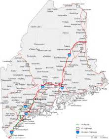 Main State Map by Map Of Maine Cities Maine Road Map