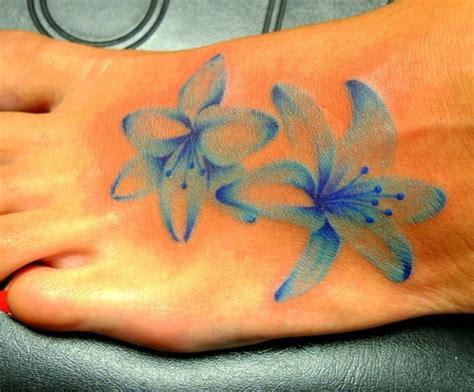 1990tattoos blue lily tattoos