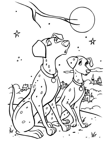 Anita 101 Dalmatians Coloring Pages Coloring Pages Dalmatian Coloring Page
