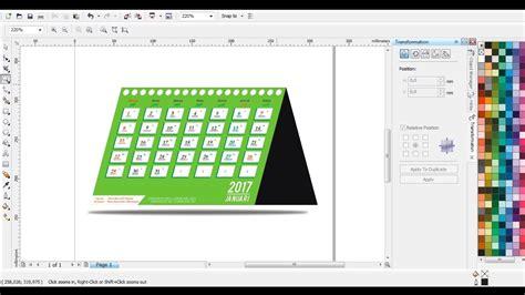tutorial desain kalender coreldraw cara membuat kalender meja dengan coreldraw belajar
