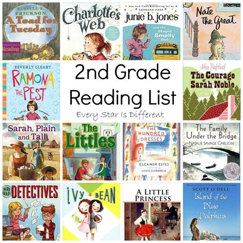 second books 2nd grade reading list every is different