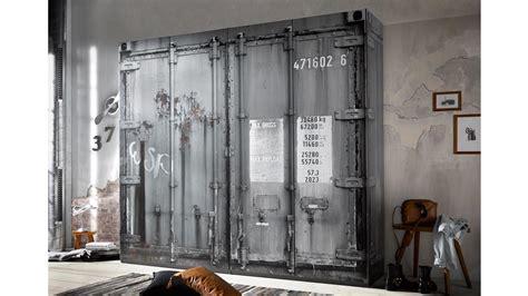 Kleiderschrank Container Schrank In Grau Industriedesign