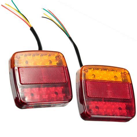 weldon led tail lights 1 pair new car 12v 20led trailer tail light left and right