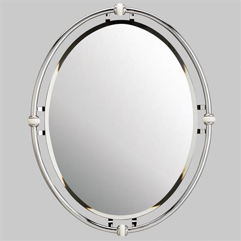 oval bathroom mirror kichler oval beveled mirror reviews wayfair