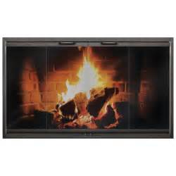 steel frame fireplace door for zero clearance fireplace
