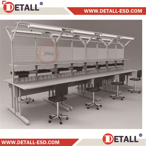 Garage Workbench Design esd assembly work desk for electronic cards repair detall