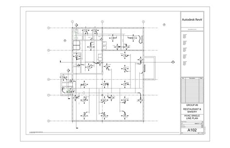 hvac drawings restaurant bakery hvac design