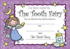 tooth fairy certificate on pinterest tooth fairy tooth