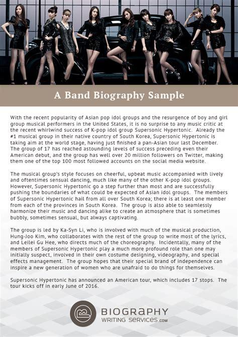writing a band bio