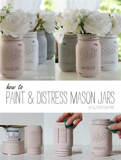 chalk paint distressing tutorial how to paint and distress jars chalk paint jar