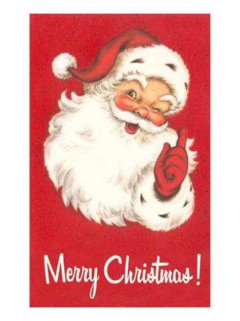 printable santa poster merry christmas winking santa claus prints allposters co uk