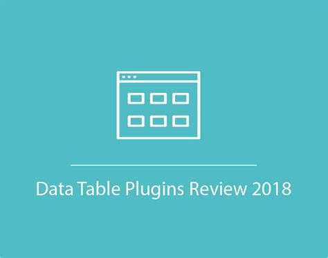 data table plugin data table plugins review 2018