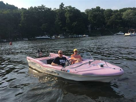 saugatuck boat rental one of the donut boats at retro boat rentals i believe