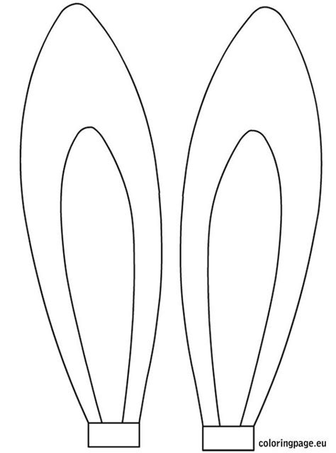 bunny ears coloring pages easter rabbit ears template easter pinterest